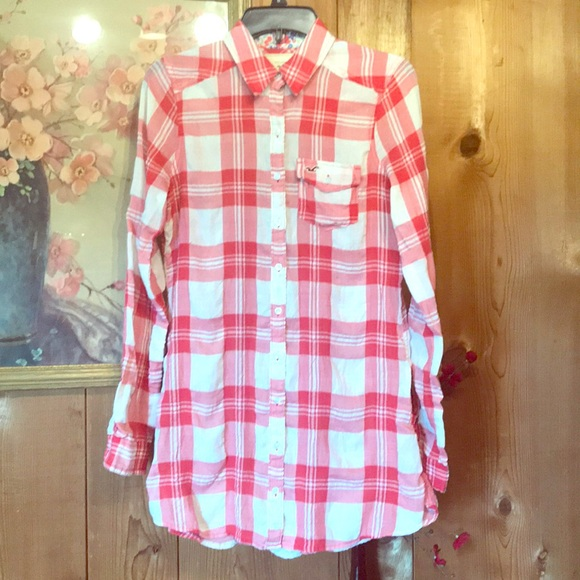 Hollister Dresses & Skirts - 🐚Hollister Plaid Shirt Dress Medium